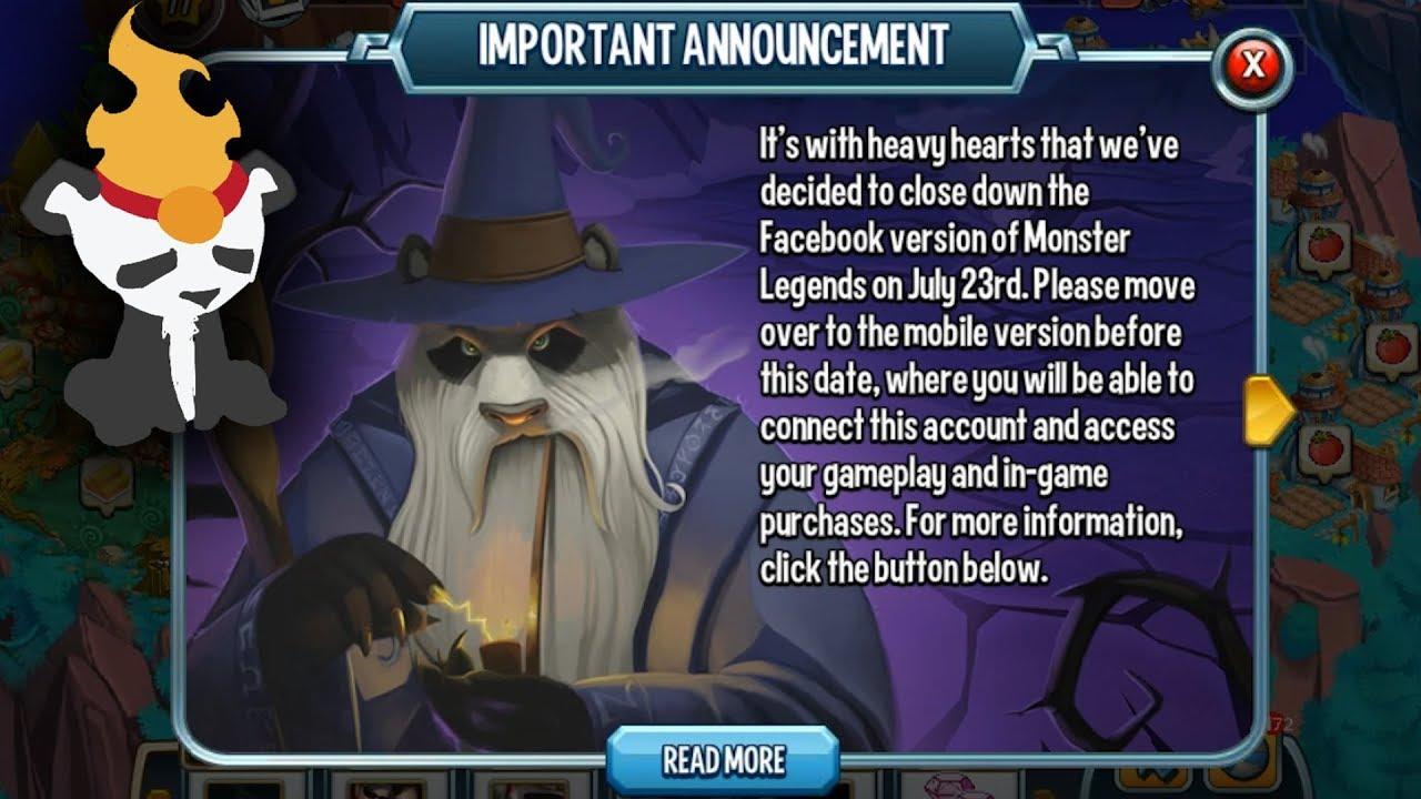 Monster Legends | Facebook Version GONE | GET YOUR 6 STAMINA!