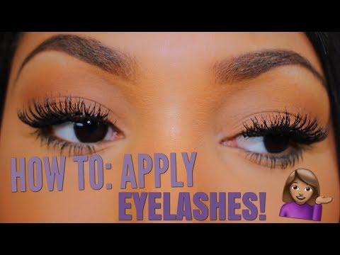 How To Apply False Eyelashes Easily - In-Depth Tutorial! - 동영상