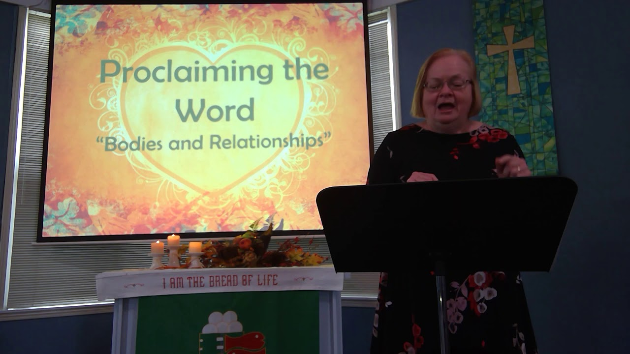 "October 18, 2020 ~ Rev. Julia Price ~ ""Bodies and Relationships"""