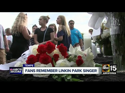 Memorial held in Tempe for Chester Bennington of Linkin Park