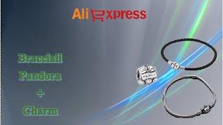 Aliexpress unboxing acquisti (67) - Bracelets Pandora + Charm Family (pelle leather silver)