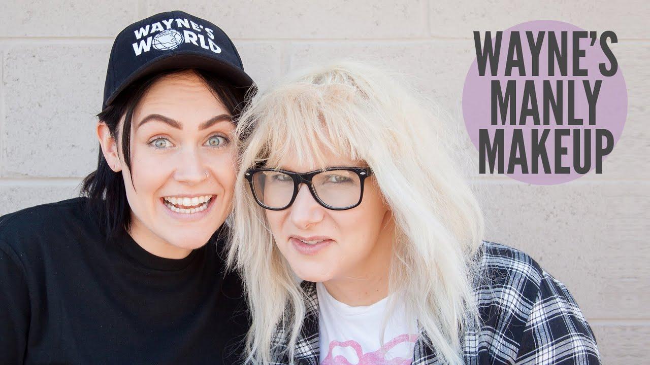 waynes world makeup tutorial for halloween