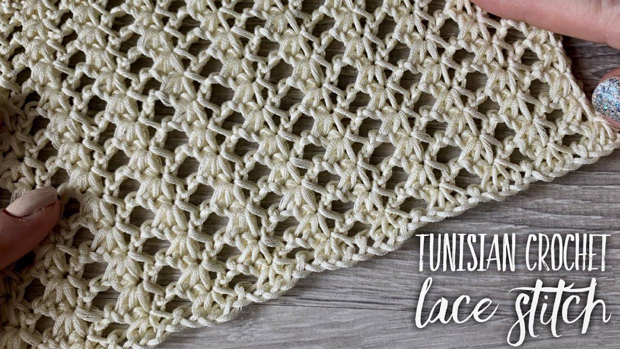 да это крючок простой ажур тунисское вязание Tunisian Crochet