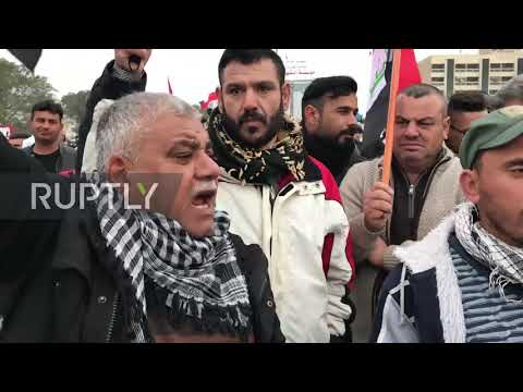 Iraq: Protesters march in Baghdad to call for US troops withdrawal