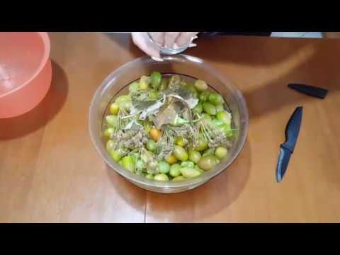 Солим зелёные помидоры черри