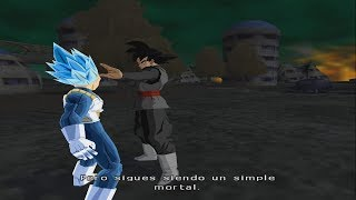 Goku Vegeta y Trunks vs Black Goku y Zamasu | DRAGON BALL Z BUDOKAI TENKAICHI 4 LATINO MODO HISTORIA