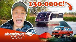 130.000 Euro Wohnwagen-Hausboot-Hybrid iṁ Härtetest | Abenteuer Leben | Kabel Eins