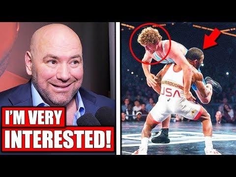 Dana White wants Jordan Burroughs in UFC after Ben Askren win; McGregor vs Cerrone; Khabib vs GSP