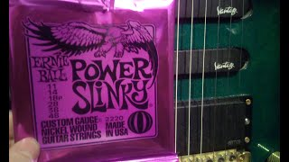 Ernie Ball Power Slinky Guitar Strings * Unbox, Install & Testing * Frayed Ends of Sanity Metallica