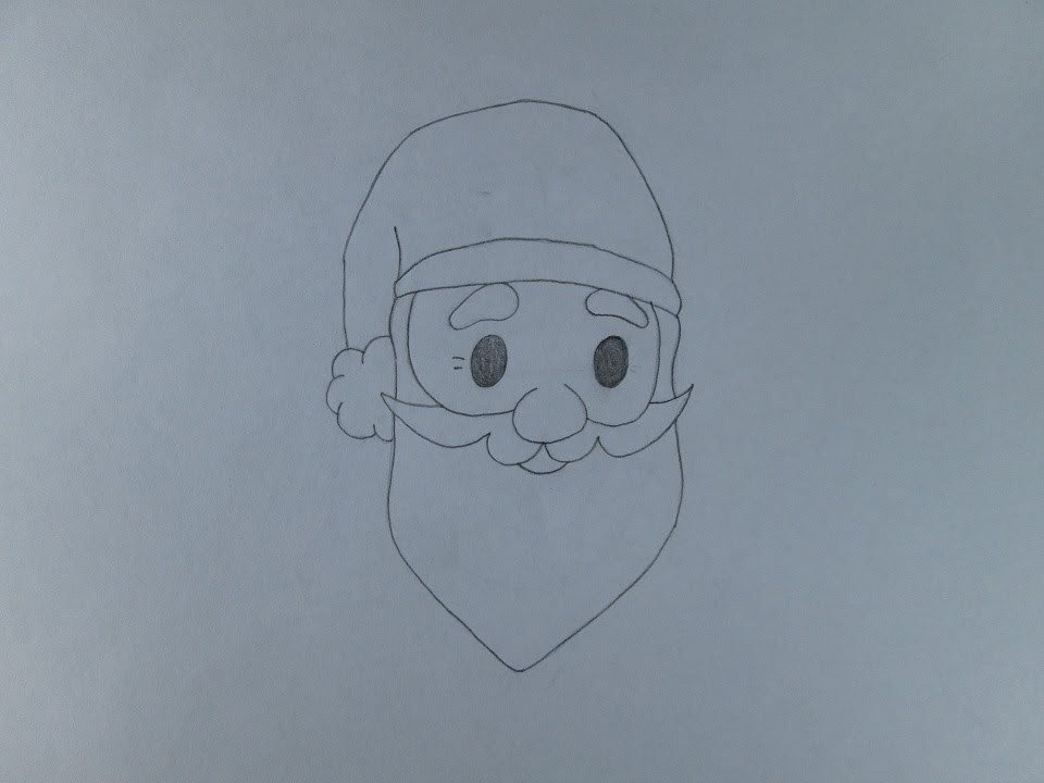 Line Drawing Santa Face : How to draw a santa face youtube