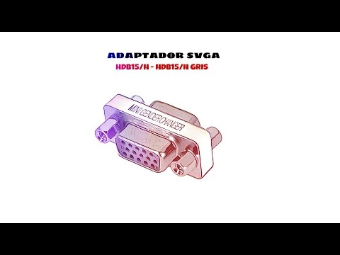 Video de Adaptador SVGA HDB15/H-HDB15/H  Gris