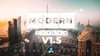 New MODERN TITLES V1.5 Update! Davinci Resolve 16