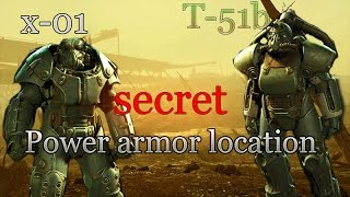 Fallout 4 where to find X-o1 or T51b power armor