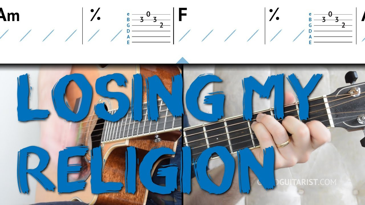 Losing My Religion Guitar Tutorial Intro Melody Chords