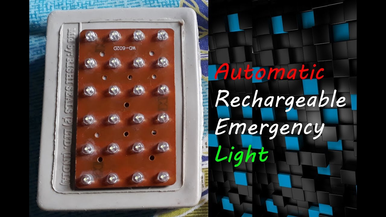 Autocut Rechargeable Emergency Led Light Youtube Automatic