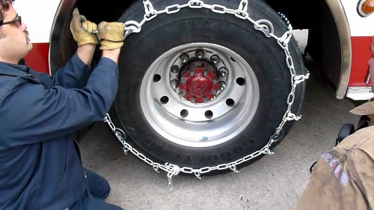 Tirechain Com Truck With Cam Tire Chains Installation