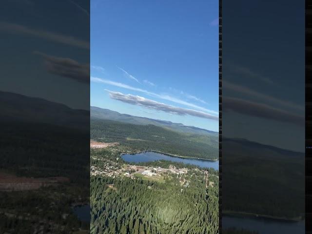 Landing at Seeley Lake, Mt.