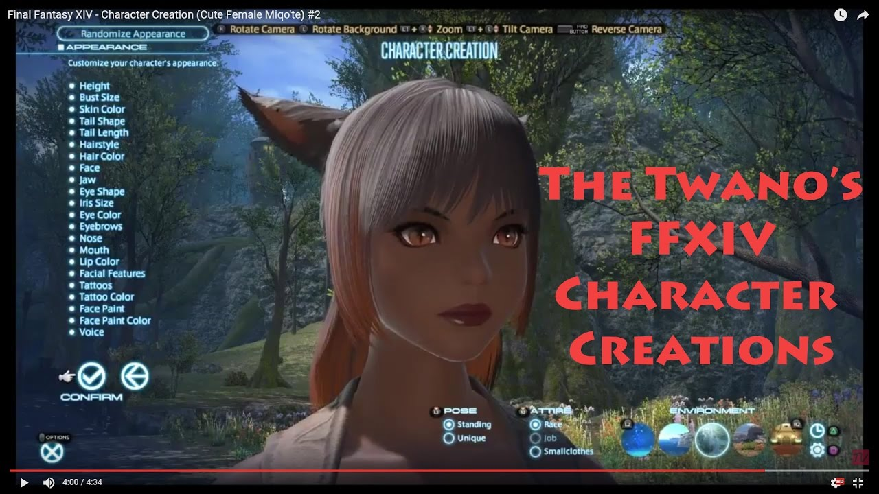 Final Fantasy XIV - Character Creation (Cute Female Miqo'te) #2