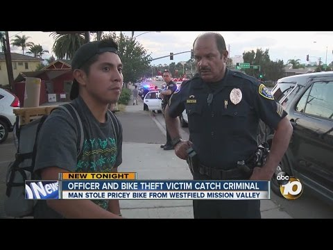 Officer and bike theft victim catch criminal