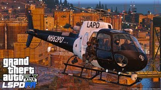 GTA 5 LSPDFR Police Mod 487 | Night Time Air Support | Spot Light, Night Vision & Thermal Cameras