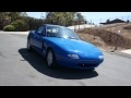 1 Owner 1990 Mazda Miata MX-5 5 spd Convertible For Sale 81k Orig MI
