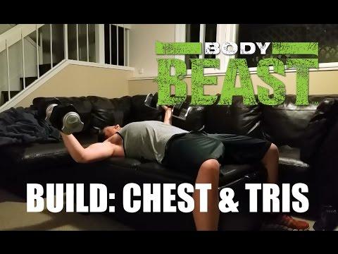 Body Beast Build Chest Tris All Lifting No Funny Biz Youtube