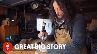 How the Blind Woodsman Crafts Wooden Works of Art