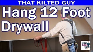 Hang 12' Sheetrock on the Ceiling, BY YOURSELF, and do it SAFELY