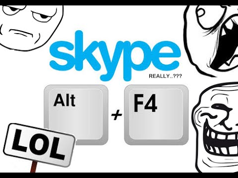 ALT F4 prank on SKYPE! ( He actually fell for it )