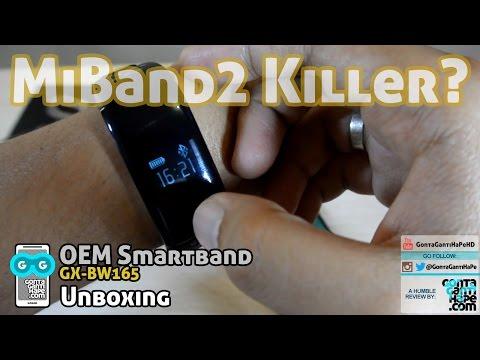 MI BAND 2 KILLER? Unboxing Smartband OEM - GX-BW165