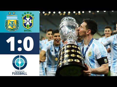 Messi krönt seine Karriere! Di Maria mit dem goldenen Treffer   Argentinien - Brasilien