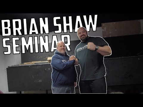 4X WSM BRIAN SHAW | SEMINAR | EVOLUTION STRENGTH
