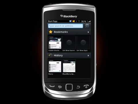 Browser Web Blackberry Torch 9810 Travel Video