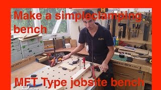 Simple Shopmade Portable Site Worktable