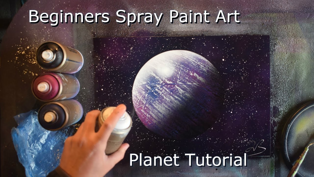 How to Spray Paint Art for Beginners - Planet Tutorial - YouTube