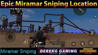 Epic MIRAMAR Sniping Location Revealed Near Chumacera | PUBG Mobile with DerekG
