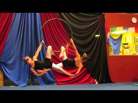 Bryce Kulzer - Lyra aerial performance (full routine, duet) - Nov 2013