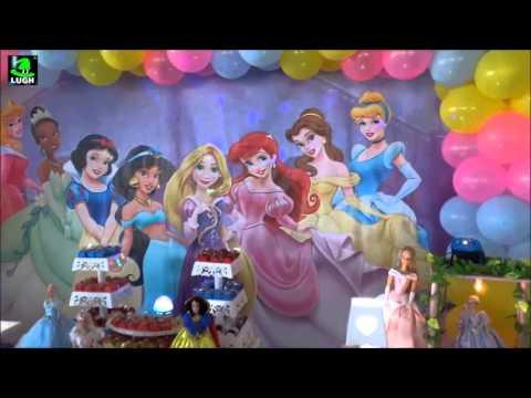 Princesas Disney - Decoração temática para festa de aniversário infantil de meninas