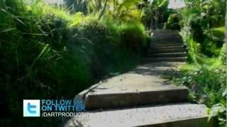 TEVE: Indonesia. Bali. Concrete path to the fish farm in Ginyar