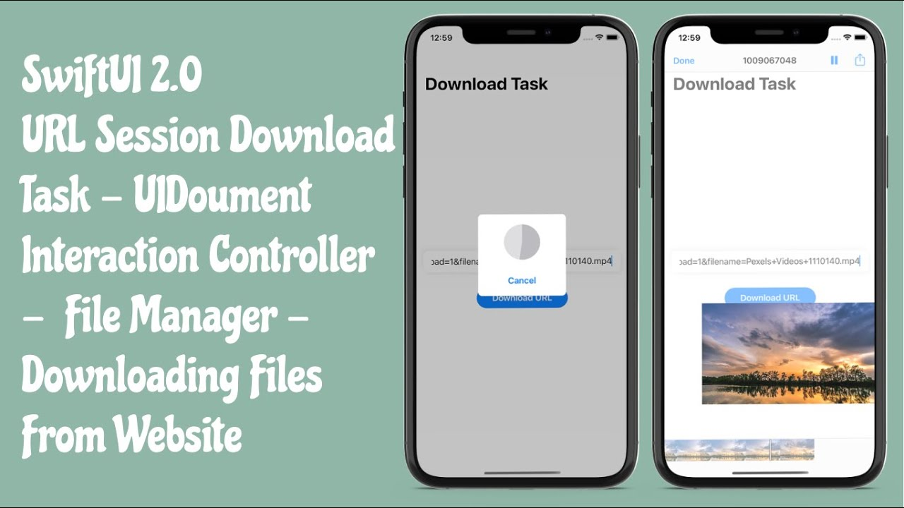 SwiftUI 2.0 URL Session Download Task With Document Interaction Controller - Tutorials