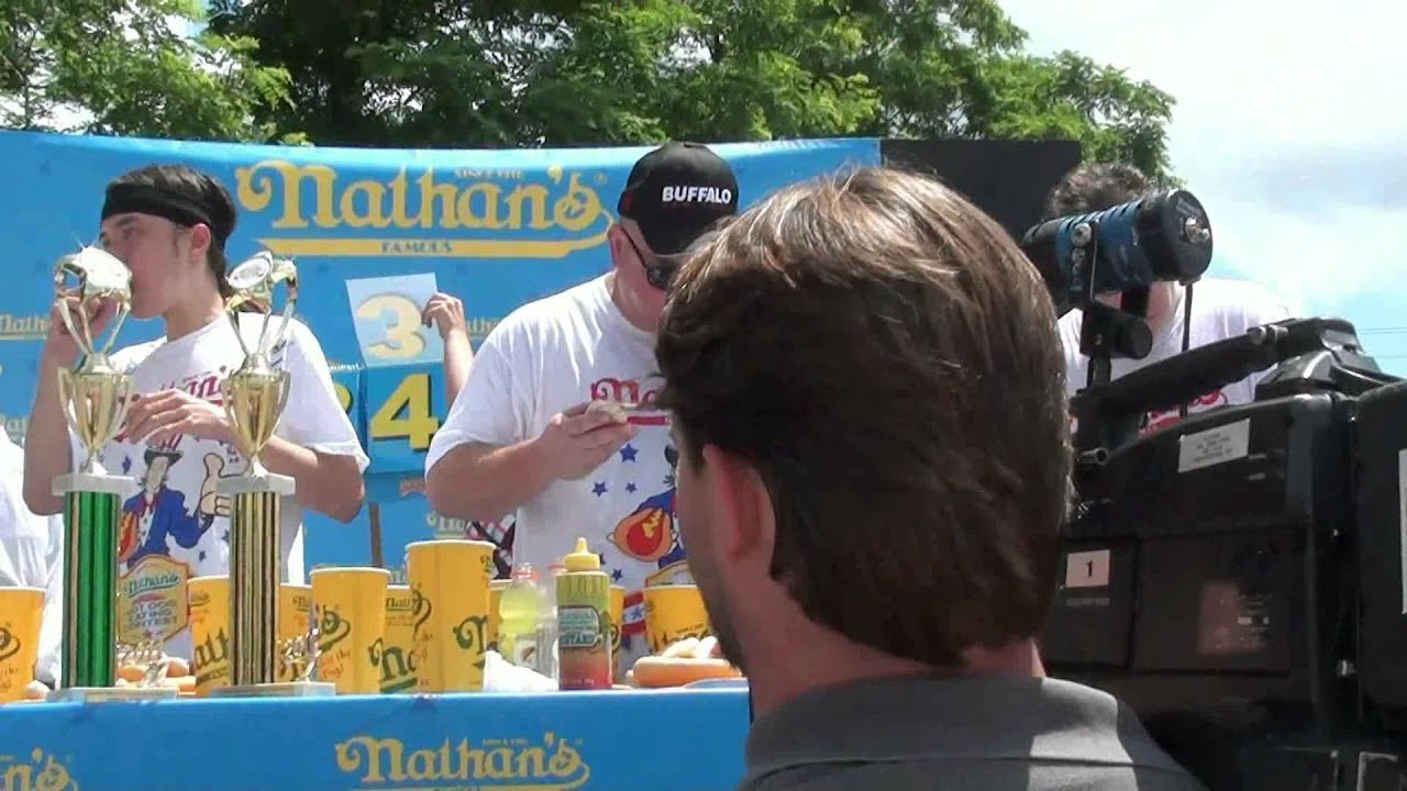 Nathans Hot Dog Eating Contest On You Tube