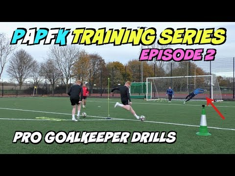 PRO GOALKEEPER DRILLS!   Focus on Reactions, Speed and Footwork   Training EP. 2