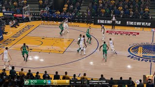 NBA LIVE 19 PS4 PRO - Boston Celtics vs Golden State Warriors - ESPN Cam Oracle Arena Full Game - HD