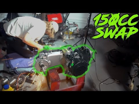 150cc GY6 into 50cc SCOOTER | CRAZY FAST ENGINE SWAP