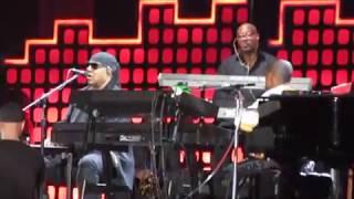 Stevie Wonder w/Pharrell Williams complete IMAGINE John Lennon cover at Global Citizen Festival 2017