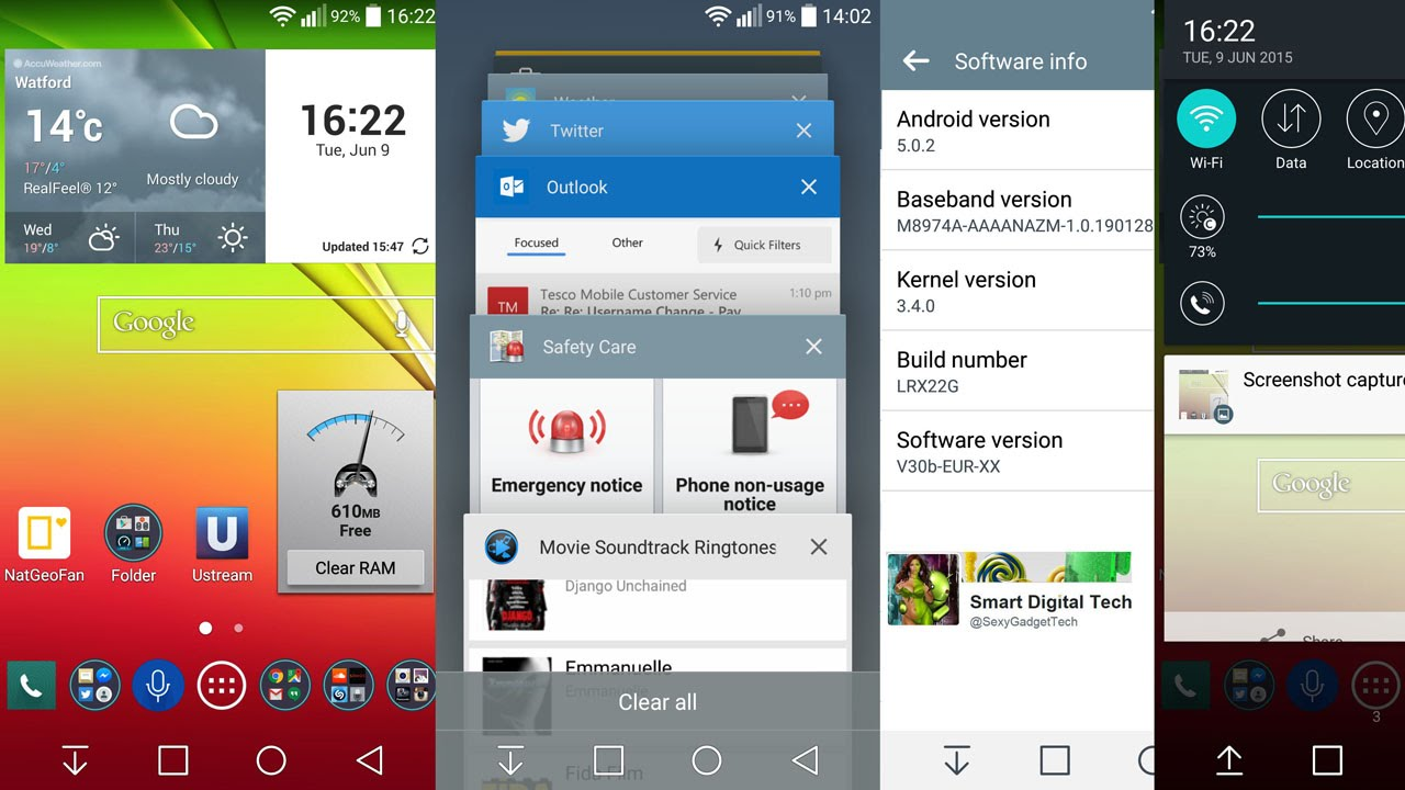 Android Official Update LG G2 G3 with PC Suite - UK int Mobile Smartphone
