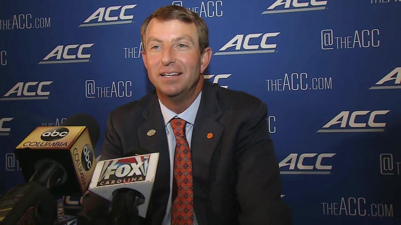 Clemson Head Coach Dabo Swinney at ACC Media Day - YouTube
