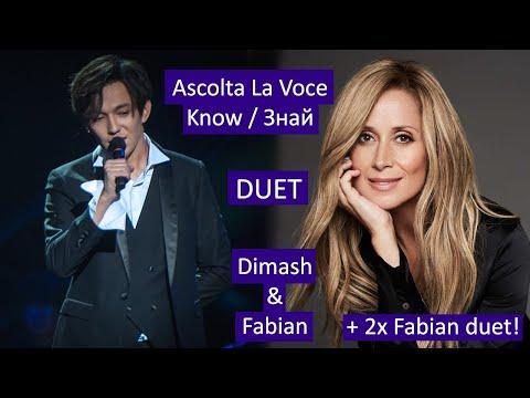 Знай / Ascolta La Voce - Димаш и Лара Фабиан