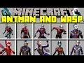 Minecraft ANT-MAN AND THE WASP MOD! / BECOME THE BIGGEST AND SMALLEST SUPERHERO / Modded Mini-Game