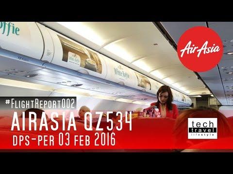 Flight Report 002 - Airasia QZ534 DPS - PER - Denpasar Bali to Perth